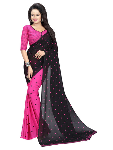 Pink Color Georgette Women's Saree - 151EKA02