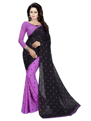 Purple Color Georgette Women's Saree - 151EKA04