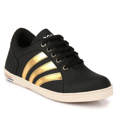 Black Color Synthetic Men's Sneakers - 151_Black
