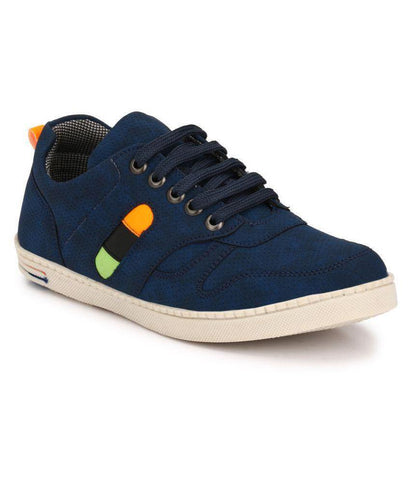 Blue Color Synthetic Men's Sneakers - 154_Blue