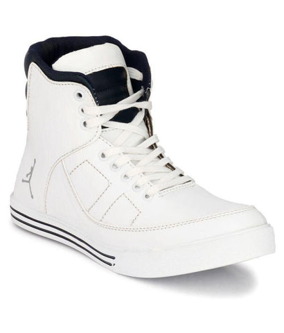 White Color Synthetic Men's Casual Shoes - 160_White