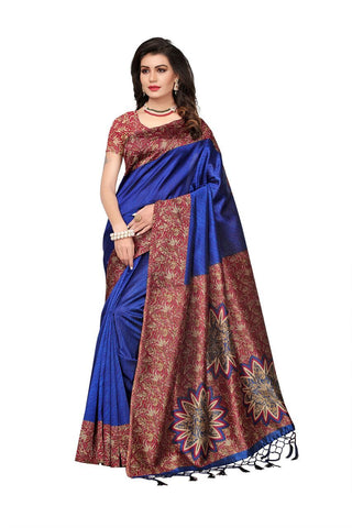 Blue Color Mysore Silk Saree - 1612-Blue