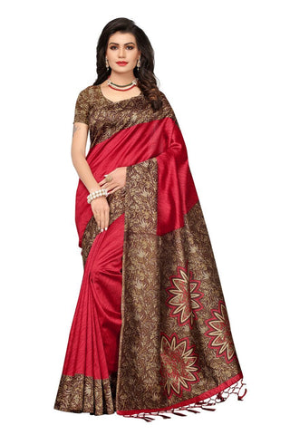Maroon Color Mysore Silk Saree - 1612-Maroon