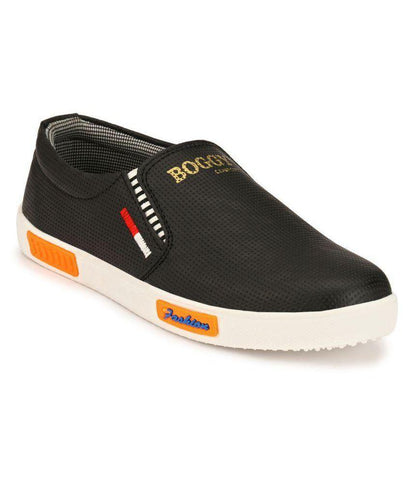 Black Color Synthetic Men's Sneakers - 162_Black