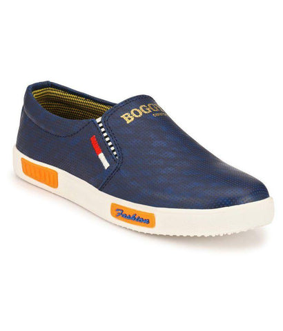 Blue Color Synthetic Men's Sneakers - 162_Blue