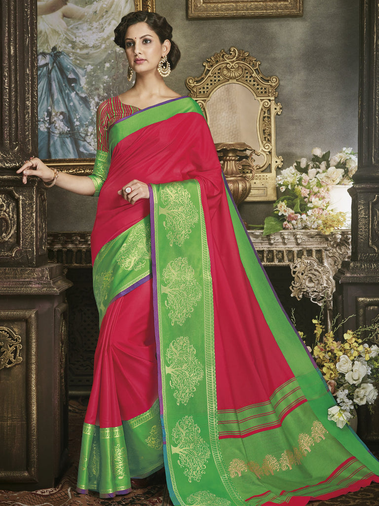 Buy Red Color Art Silk Saree