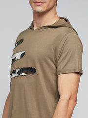 Brown Color Cotton Men's Tshirt - MYNHD017001KHI