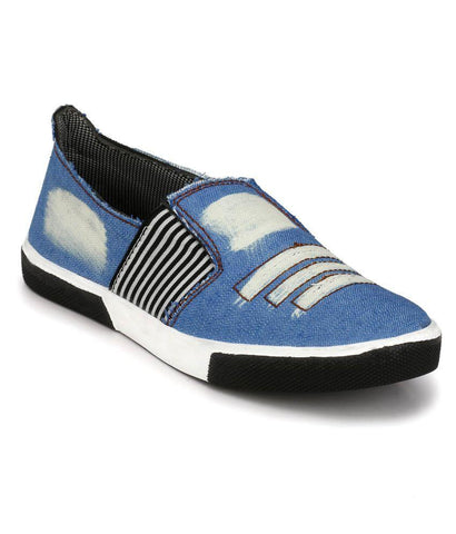Sky Blue Color Synthetic Men's Sneakers - 173_Sky_Blue