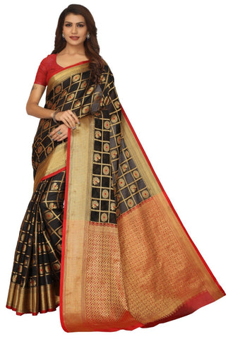 Black Color Banarasi Silk Saree - 178KNBLR