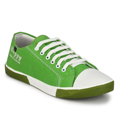 Green Color Fabric Men's Sneakers - 181_Green