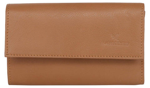 Tan Color Leather Womens Wallet - 18736
