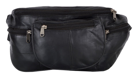Black Color Leather Unisex Travel Bag - 187BLK