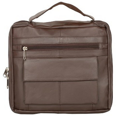 Brown  Color Leather Women Laptop Bag - 1900BRN