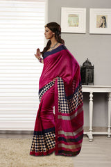 Multi Color Bhagalpuri Silk Saree