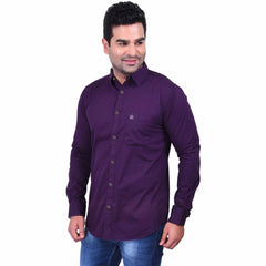 Buy Purple Color Premium  Cotton Men'S Shirt