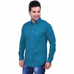 Buy Teal Color Premium  Cotton Men'S Shirt