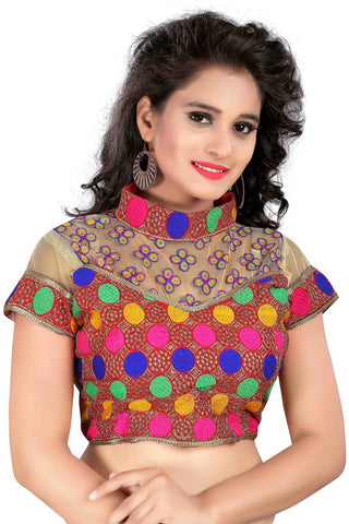 Multi Color Cotton Stitched Blouse - 2004Multi