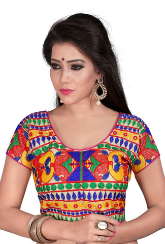 Multi Color Cotton Stitched Blouse - 2010