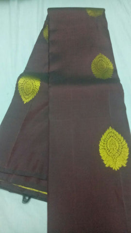 Coffee Color Pure Silk Jari Gold Dharmavaram Saree - 20180911-WA0005