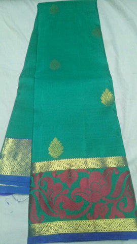 Rama Green Color Pure Silk  Jari Gold Dharmavaram Saree - 20180911-WA0007