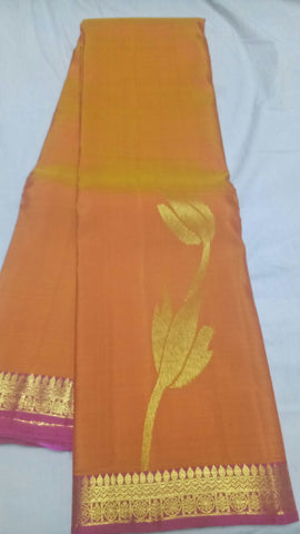 Orange Color Pure Silk Jari Gold Dharmavaram Saree - 20180911-WA0021