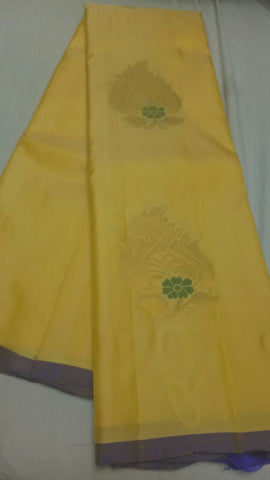 Yellow Color Pure Silk Jari Gold Dharmavaram Saree - 20180911-WA0022