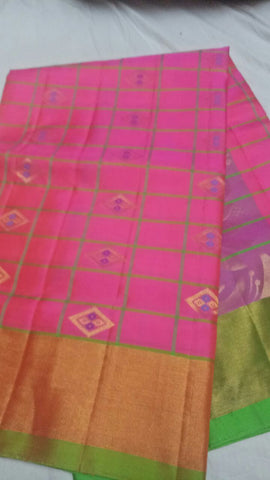 Pink Color Pure Silk Jari Gold Dharmavaram Saree - 20180911-WA0023