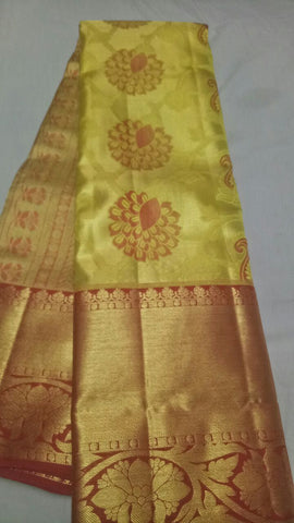 Gold Color Pure Silk 1grm Gold Dharmavaram Saree - 20180911-WA0025