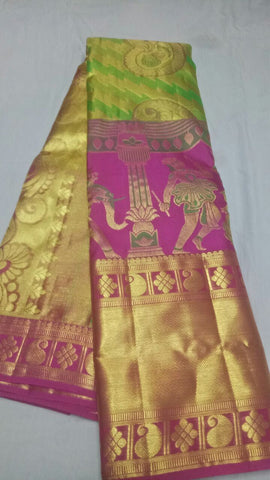 Multi Color Pure Silk 1grm Gold Dharmavaram Saree - 20180911-WA0028