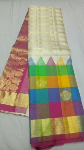 Multi Color Pure Silk 1grm Gold Dharmavaram Saree - 20180911-WA0030