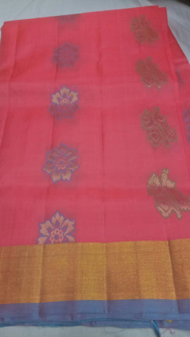 Pink Color Pure Silk Jari Gold Dharmavaram Saree - 20180911-WA0035