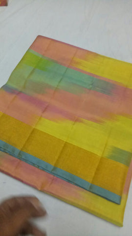 Multi Color Pure Silk Jari Gold Dharmavaram Saree - 20180911-WA0036