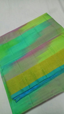 Multi Color Pure Silk Jari Gold Dharmavaram Saree - 20180911-WA0037