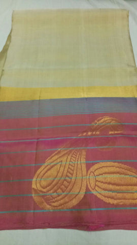 Multi Color Pure Silk Jari Gold Dharmavaram Saree - 20180911-WA0039