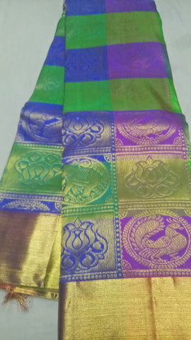 Multi Color Pure Silk 1grm Gold Dharmavaram Saree - 20180911-WA0042