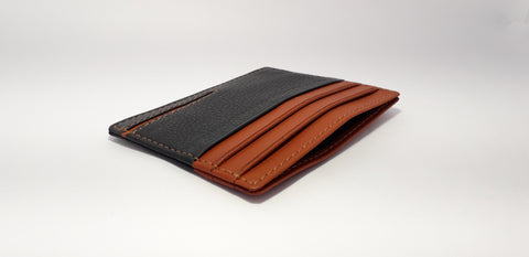 Black and Tan Color Leather Men Wallet  - RLF1812M06