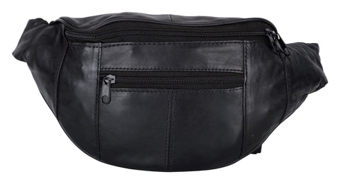 Black Color Leather Unisex Travel Bag - 204BLK