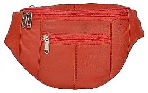 Red Color Leather Unisex Travel Bag - 204RED