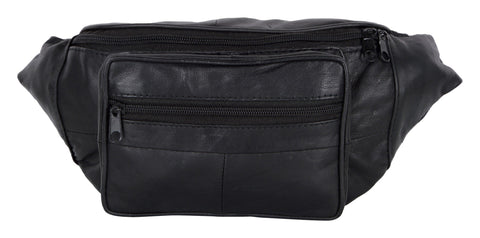 Black Color Leather Unisex Travel Bag - 206BLK