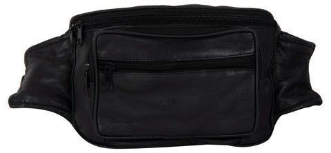 Black Color Leather Unisex Travel Bag - 207BLACK