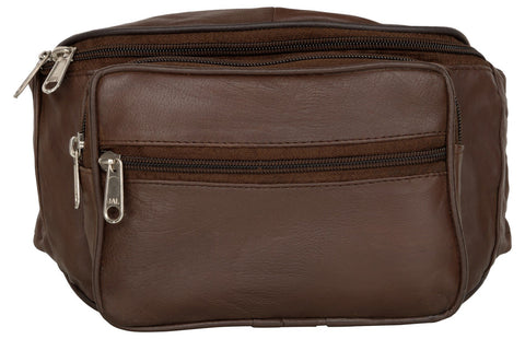 Brown Color Leather Unisex Travel Bag - 207BROWN