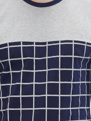 Navy Color Cotton Men T-Shirts-20NGM
