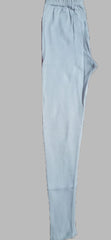 White Color Cotton Lycra Women's Casual Legging - BKW004