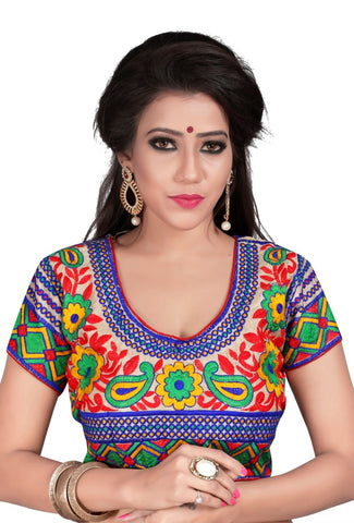 Multi Color Cotton Stitched Blouse - 2113