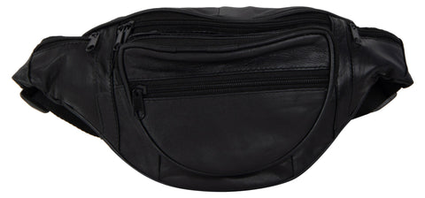 Black Color Leather Unisex Travel Bag - 218BLACK