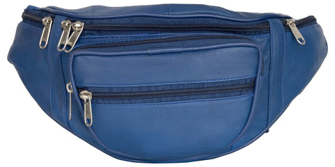 Blue Color Leather Unisex Travel Bag - 218BLUE