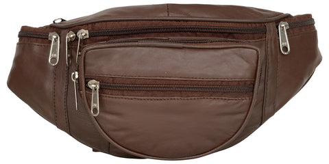 Brown Color Leather Unisex Travel Bag - 218BROWN