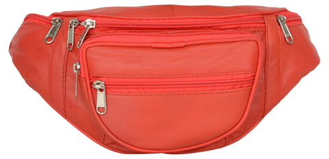 Red Color Leather Unisex Travel Bag - 218RED