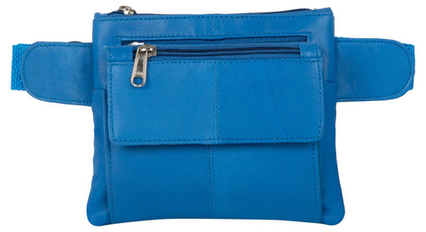 Blue Color Leather Unisex Travel Bag - 219BLUE