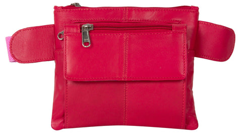 Pink Color Leather Unisex Travel Bag - 219PINK